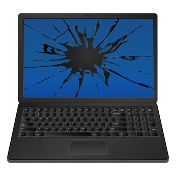 cracked laptop screen