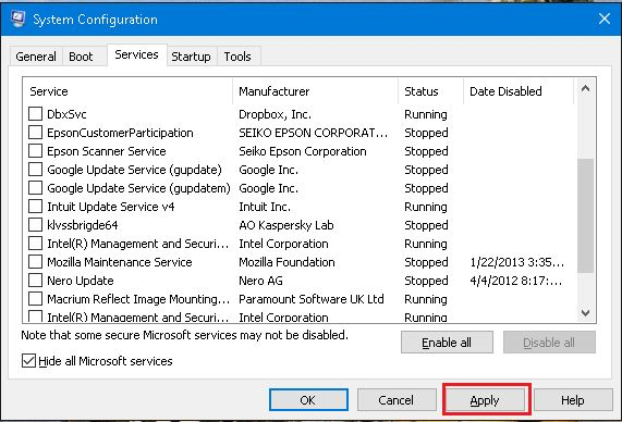 clean boot-system-configuration-utility